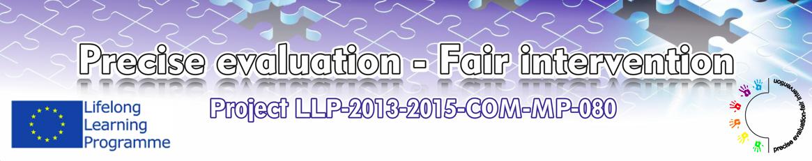 Logotip Precise evaluation - Fair intervention