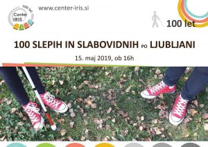 100 slepih in slabovidnih po Ljubljani
