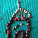 Slika iz kostanja, lešnikov, žira