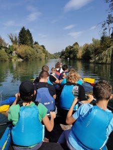 1_športni dan 2021-2022 na Ljubljanici iz čolna